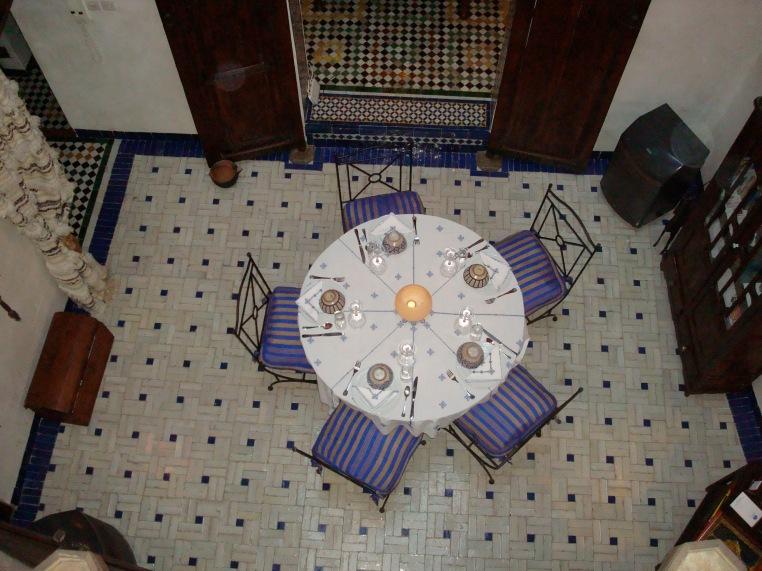 dining courtyard at Dar El Hana