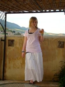 Kenzie, rooftop of Dar El Hana