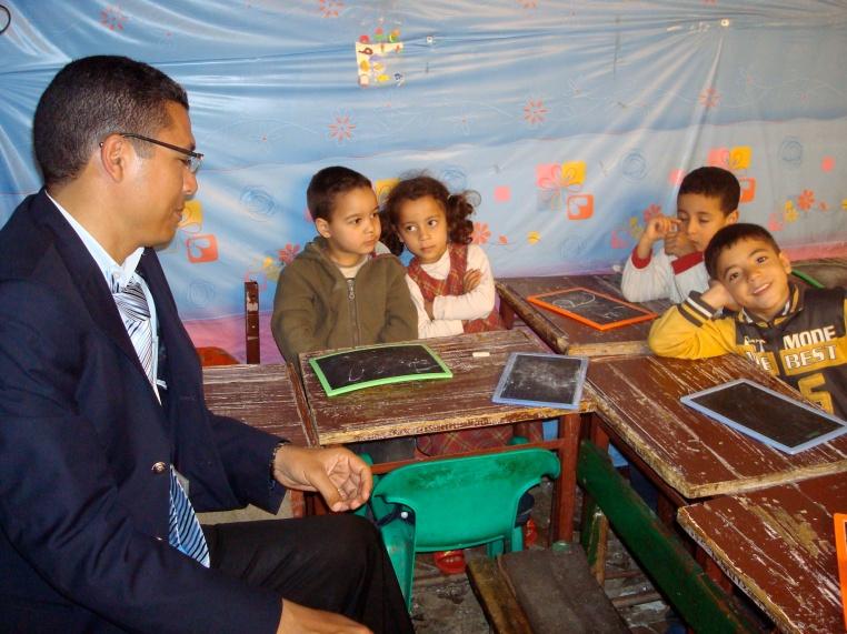 Hakim in the kindergarten class, Fez