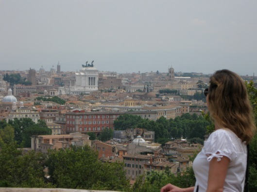View of Rome from Gianicolo Park, Rome, Italy